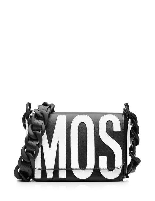 Moschino | Женское Чёрный Logo Leather Shoulder Bag Gr. One Size