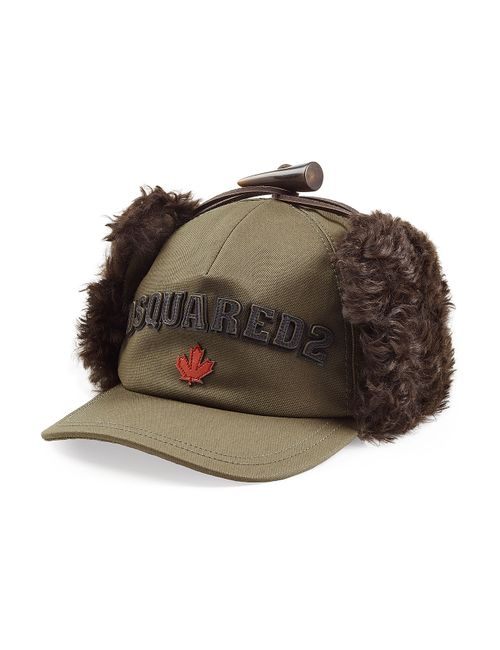 Dsquared2 | Зелёный Baseball Cap With Fur Gr. S