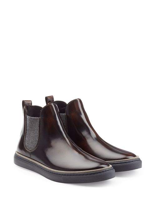 Brunello Cucinelli | Женское Коричневый Patent Leather Ankle Boots Gr. It 375