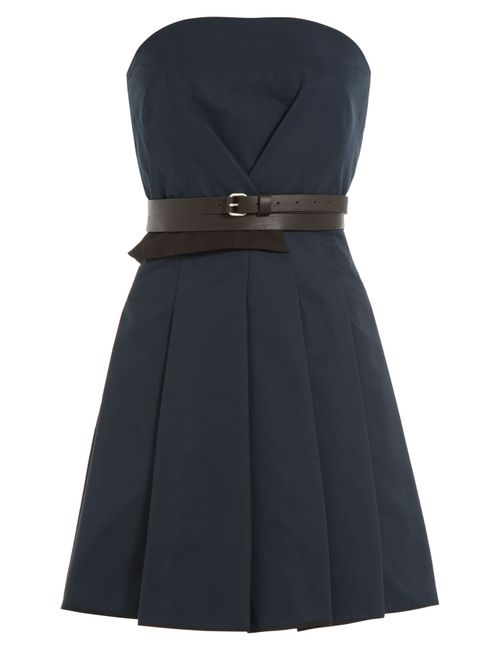 Victoria, Victoria Beckham | Женское Синий Dress With Leather Belt Gr. 4