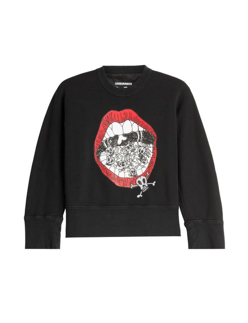 Dsquared2 | Чёрный Printed Cotton Sweatshirt Gr. Xs