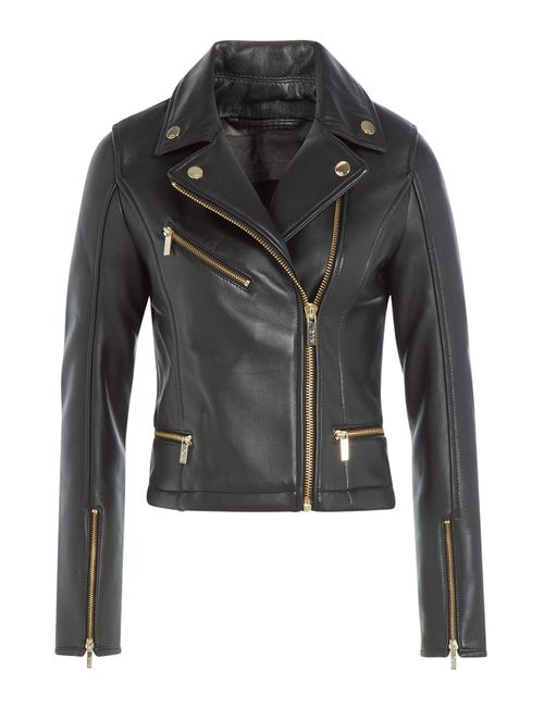Karl Lagerfeld   Женское Чёрный Leather Biker Jacket Gr. It 42