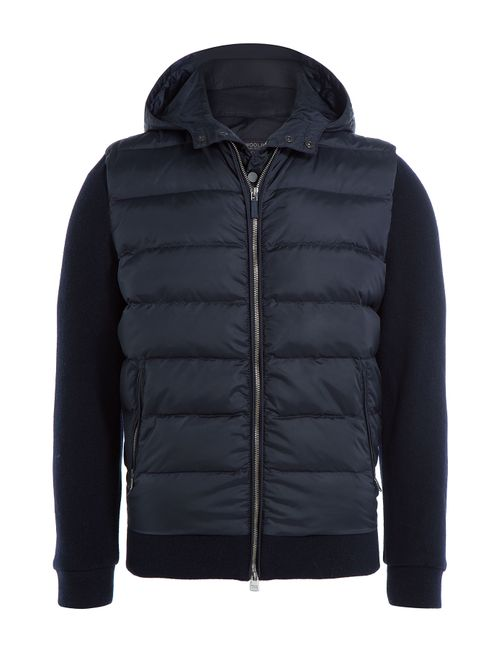 Woolrich | Мужское Синий Down Jacket With Jersey Sleeves Gr. M