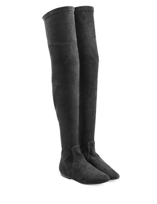 ISABEL MARANT ÉTOILE | Женское Черный Suede Over-The-Knee Boots Gr. 36