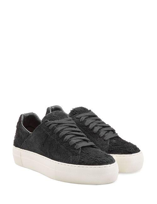 Helmut Lang | Женское Чёрный Textural Brushed Leather Platform Sneakers Gr. Eu