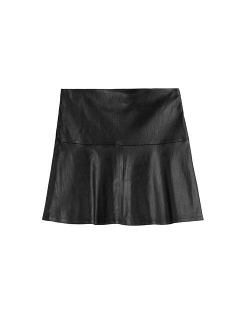 Jitrois | Женское Черный Flared Leather Skirt Gr. 36