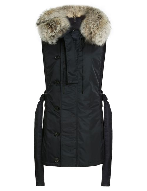 3.1 Phillip Lim | Женское Черный Parka Vest With Fur Trim Gr. S