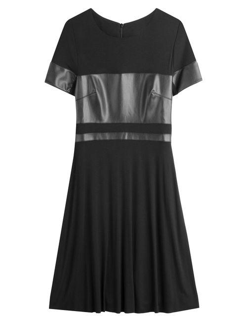Bailey 44 | Женское Черный Faux-Leather Paneled Dress Gr. M