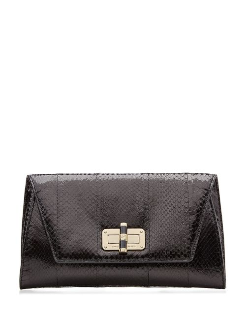 Diane Von Furstenberg | Женское Чёрный Leather Python-Embossed Clutch Gr. One Size