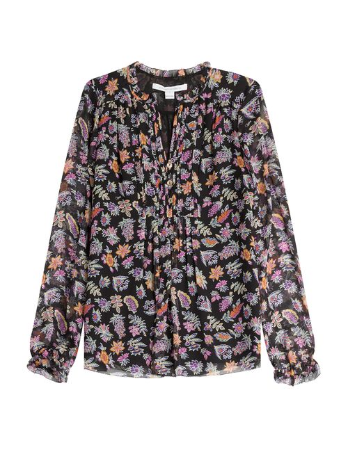 Diane Von Furstenberg | Женское Цветочный Printed Silk Blouse Gr. 2