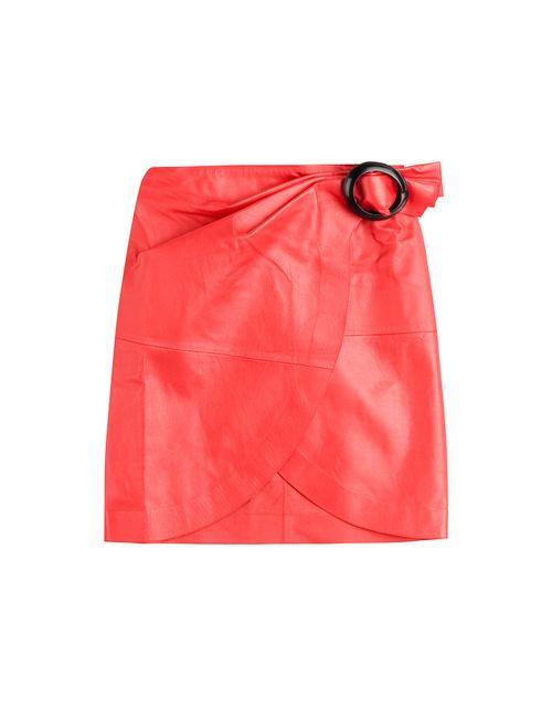 J.W. Anderson   Женское Красный Leather Skirt Gr. 6