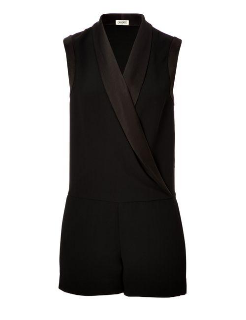 L'Agence | Женское Чёрный Tuxedo-Style Romper Gr. Us 0