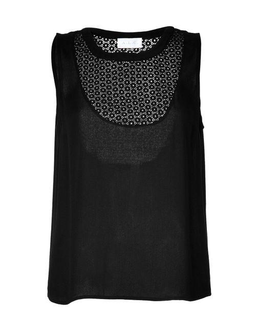 A.L.C. | Женское Чёрный Tank Top With Eyelet Paneling Gr. Xs