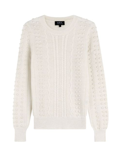A.P.C. | Женское Белый Textured Pullover With Alpaca And Merino Wool