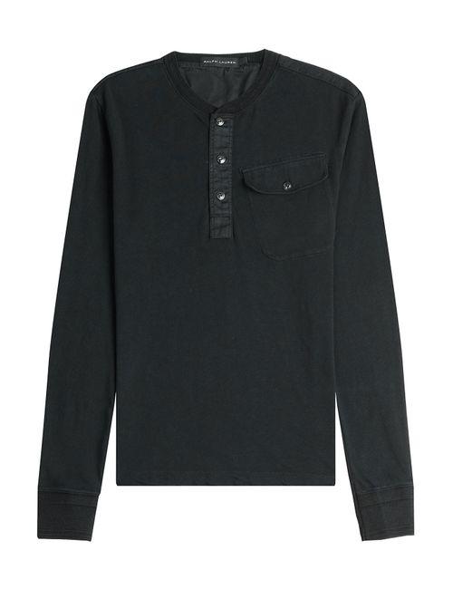 Ralph Lauren Black Label | Мужское Серый Cotton Top Gr. S