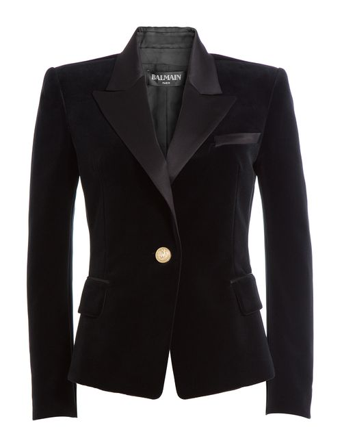 Balmain | Женское Черный Velvet Blazer Gr. 36