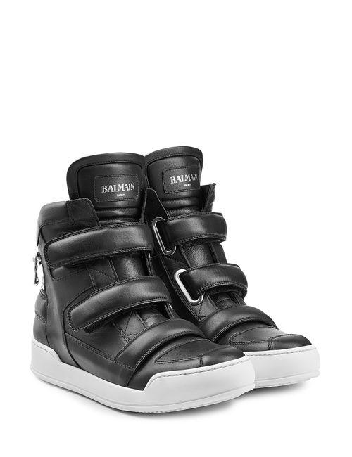 Balmain | Мужское Чёрный Leather High-Top Sneakers Gr. 40