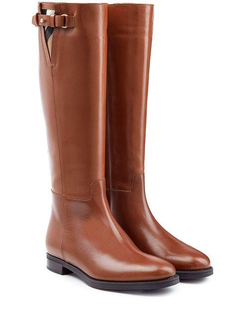 Burberry | Женское Коричневый Leather Knee Boots Gr. 36