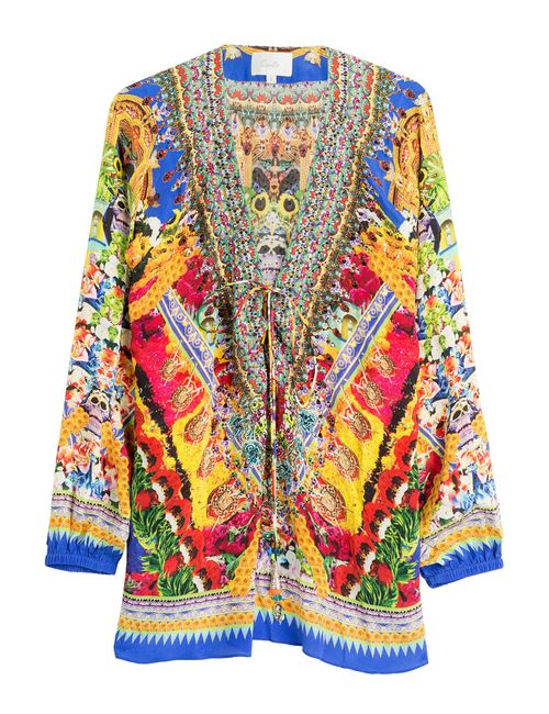 Camilla | Многоцветный Printed Silk Tunic Gr. 1