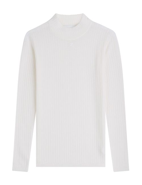 Courreges | Женское Белый Ribbed Wool Pullover Gr. 1