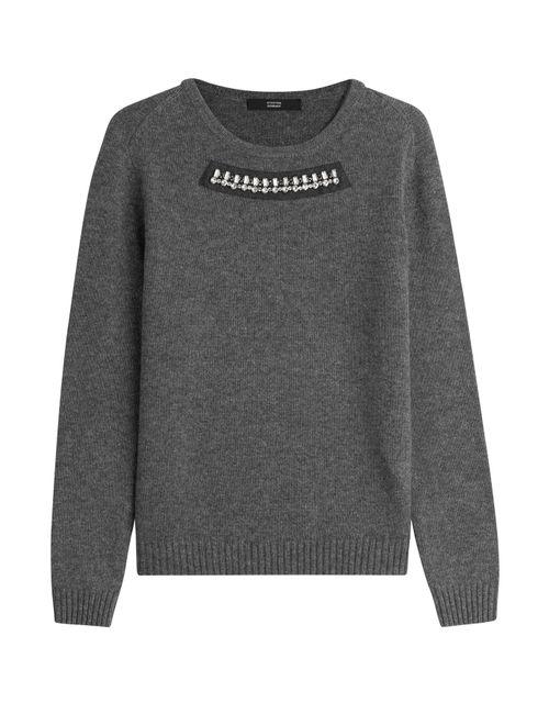 Steffen Schraut | Женское Серый Audrey Embellished Cashmere Pullover Gr. 34
