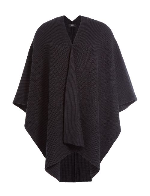 Steffen Schraut | Женское Чёрный Long Island Ribbed Cotton Cape Cardigan Gr.