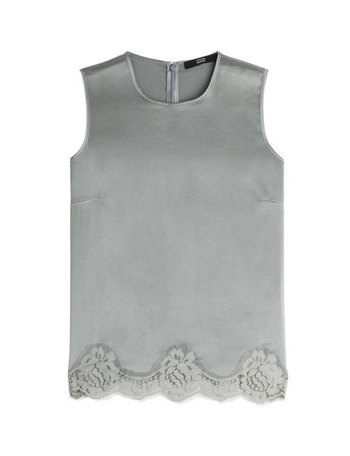 Steffen Schraut   Женское Серебристый Lace Luxury Silk Top Gr. De 42