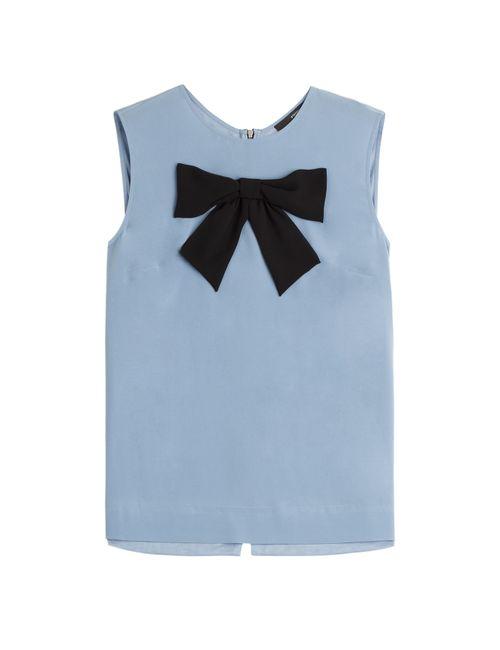 Steffen Schraut | Женское Синий Big Bow Silk Blouse Gr. 32