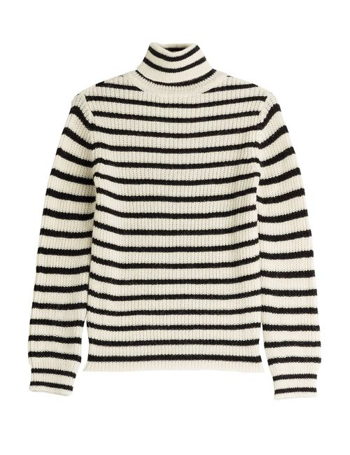 Iro | Женское Gestreift Striped Turtleneck With Alpaca And Wool Gr.