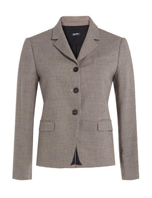 Jil Sander Navy | Женское Серый Printed Blazer With Wool Gr. De 40