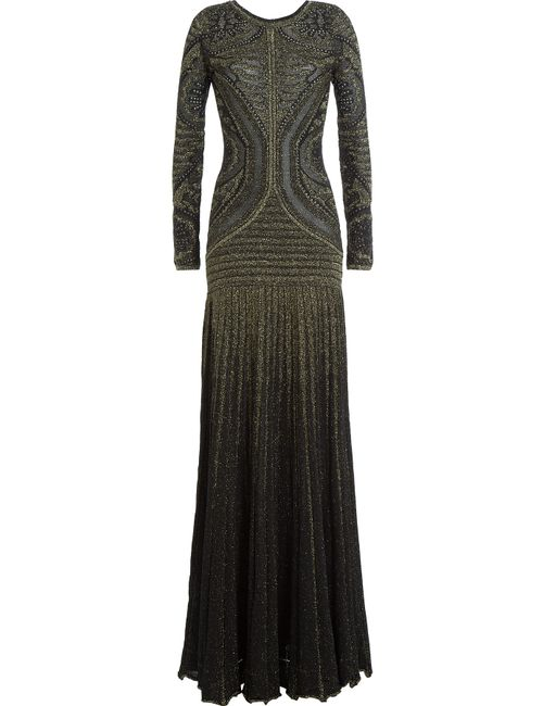 Just Cavalli | Женское Золотой Floor Length Gown With Metallic Thread Gr.