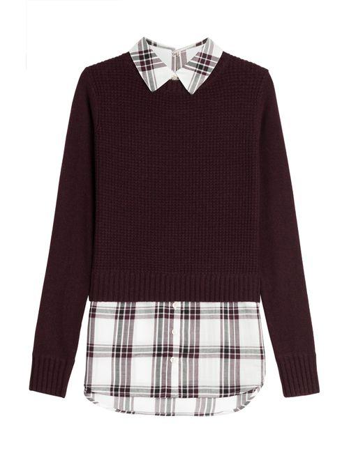 Veronica Beard | Женское Красный Mohawk Shirt And Pullover Combo Gr. S
