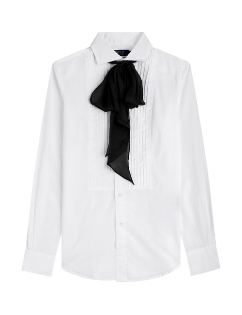 Polo Ralph Lauren | Женское Белый Cotton Shirt With Bow Gr. 8