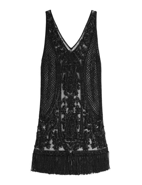 Polo Ralph Lauren | Женское Черный Embellished Silk Dress Gr. Us 2