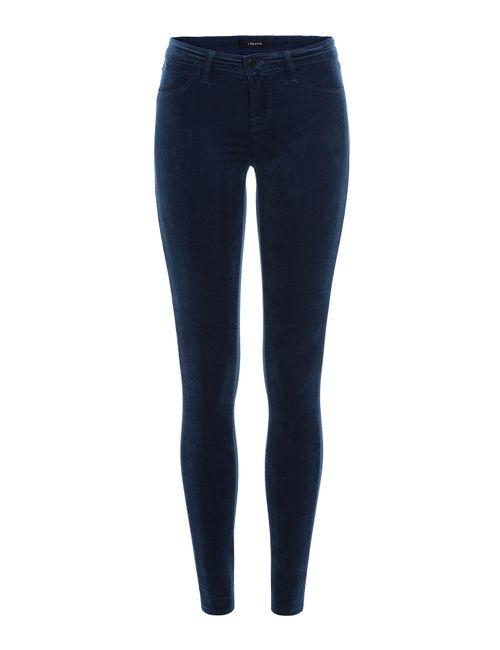 J Brand Jeans | Женское Синий Skinny Velvet Pants Gr. 30