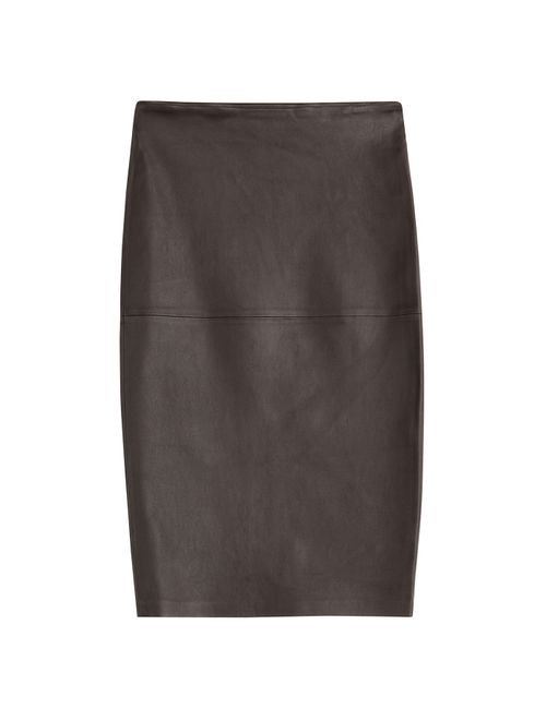 By Malene Birger | Женское Коричневый Leather Pencil Skirt Gr. De 38