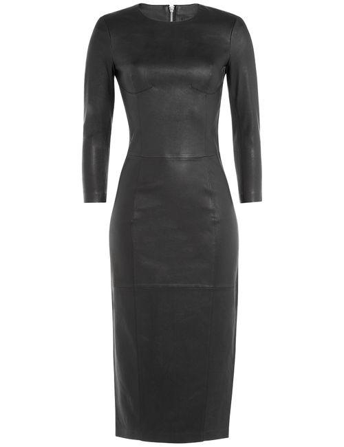 By Malene Birger | Чёрный Leather Midi Dress Gr. 34