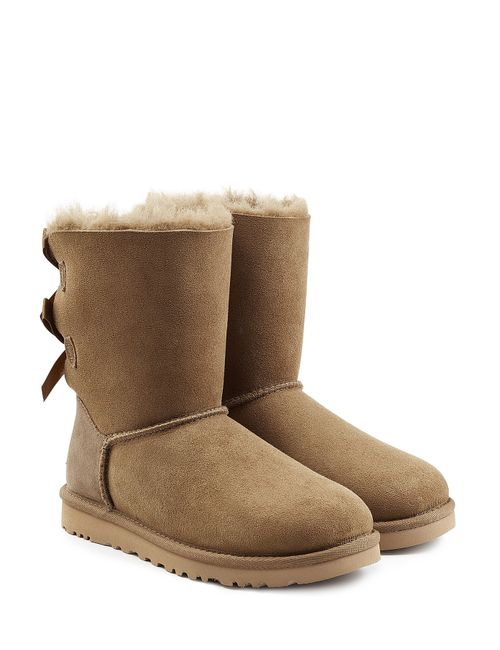 UGG Australia   Женское Зелёный Bailey Bow Suede Boots Gr. Us 5