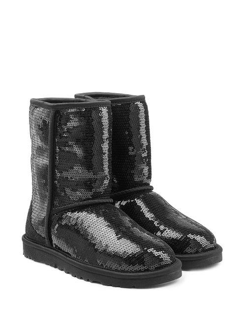 UGG Australia | Женское Черный Sparkles Sequin Coated Suede Boots Gr. 5