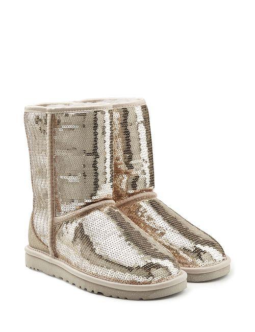 UGG Australia | Женское Серебристый Sparkles Sequin Coated Suede Boots Gr. 6