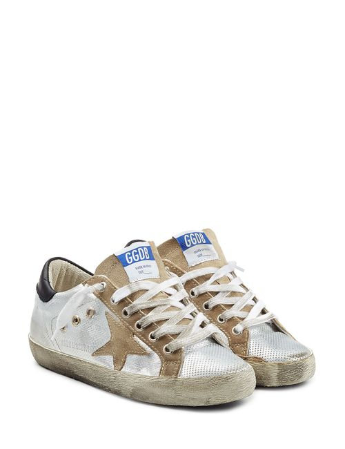 Golden Goose   Женское Серебристый Super Star Leather Sneakers Gr. 35