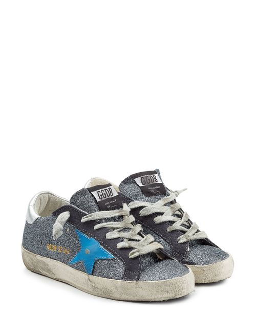 Golden Goose | Женское Серебристый Super Star Sneakers With Glitter Gr. It