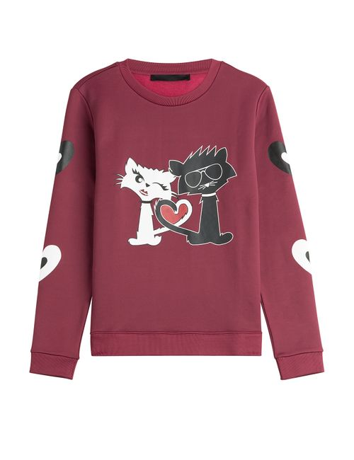 Karl Lagerfeld | Красный Printed Cotton Sweatshirt Gr. Xs