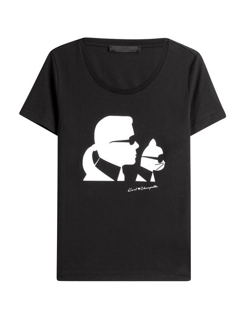 Karl Lagerfeld | Женское Чёрный Printed T-Shirt Gr. Xs