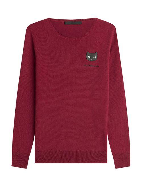 Karl Lagerfeld   Женское Красный Wool Pullover Gr. Xs