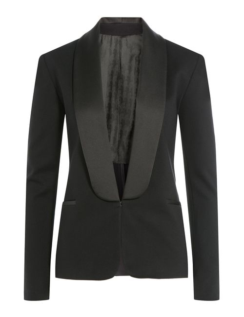 Karl Lagerfeld | Женское Чёрный Blazer With Satin Lapels Gr. It 40