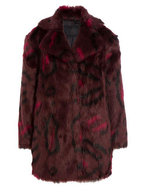 Karl Lagerfeld | Розовый Printed Faux Fur Coat Gr. 38