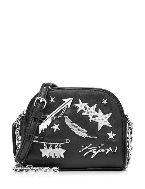 Karl Lagerfeld   Женское Чёрный Leather Shoulder Bag Gr. One Size