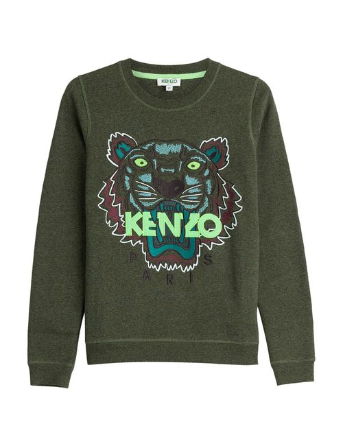 Kenzo | Женское Зелёный Embroidered Cotton Sweatshirt Gr. Xs