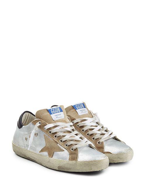 Golden Goose   Мужское Серебристый Super Star Leather Sneakers Gr. Eu 43